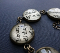 Handmade book bracelet featuring Macbeth